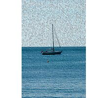 Yacht, a composition in blue Photographic Print