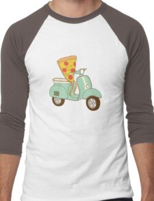 pizza delivery Men's Baseball ¾ T-Shirt