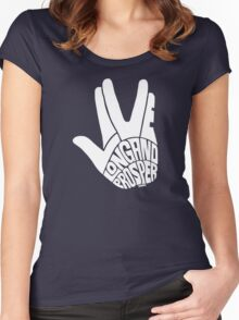 Live Long and Prosper White Women's Fitted Scoop T-Shirt