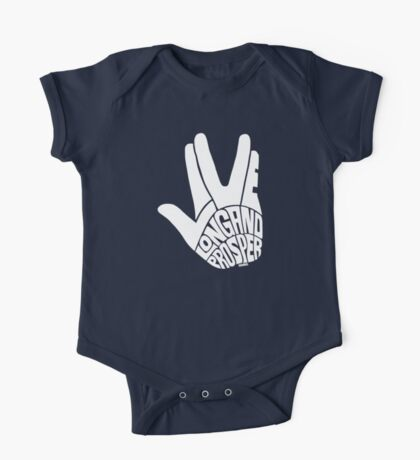 Live Long and Prosper White One Piece - Short Sleeve