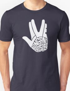 Live Long and Prosper White Unisex T-Shirt