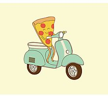 pizza delivery Photographic Print