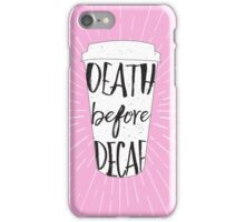 Caffeinated Feelings in Pink iPhone Case/Skin