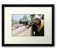 At Gun Point Framed Print
