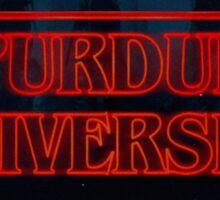 Purdue University Stranger Things Sticker