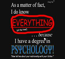 Psychology Degree (Dark Backgrounds) Womens Fitted T-Shirt