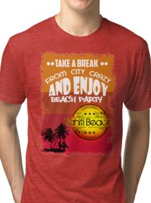 The Beach Of Tahiti Tri-blend T-Shirt