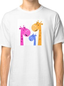 Group of giraffes collective. Vector cartoon Illustration Classic T-Shirt