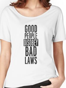 Protest Quote Funny Text Good People Women's Relaxed Fit T-Shirt