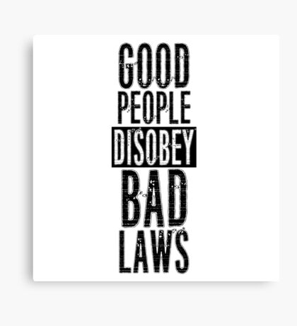 Protest Quote Funny Text Good People Canvas Print