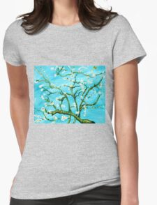 Almond Blossoms Womens Fitted T-Shirt