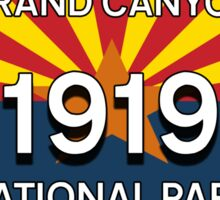 GRAND CANYON NATIONAL PARK ARIZONA LICENSE PLATE 1919 Sticker