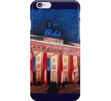Berlin Brandenburg Gate With Paris Place At Night iPhone Case/Skin