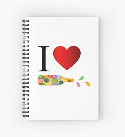 I love party  Spiral Notebook