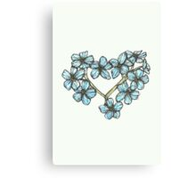 Forget-me-not Heart Canvas Print