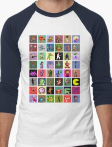 Pixel Heroes Men's Baseball ¾ T-Shirt