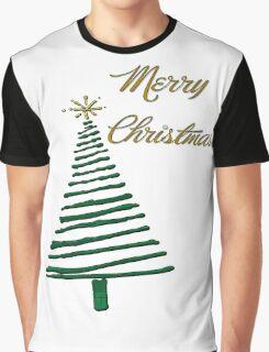 Merry Christmas Tree Graphic T-Shirt