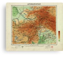 Map of Afghanistan (1912) Canvas Print