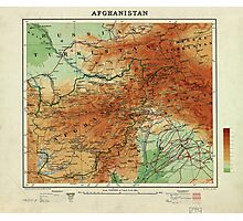 Map of Afghanistan (1912) Photographic Print