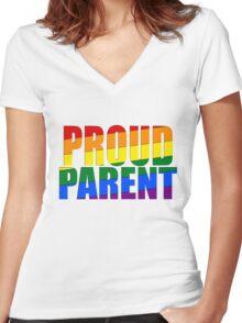 Proud Parent Women's Fitted V-Neck T-Shirt