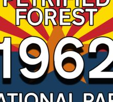 PETRIFIED FOREST NATIONAL PARK ARIZONA LICENSE 1962 Sticker