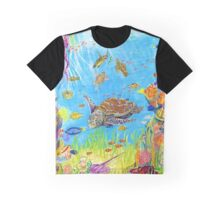 Sea Turtles in Coral Lagoon Graphic T-Shirt