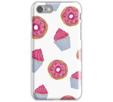 Dessert inspired pattern. Donuts and Cupcakes. Watercolor Art. iPhone Case/Skin