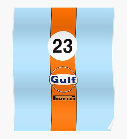 Gulf Oil Racing colours Poster
