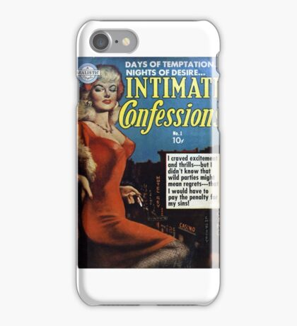 Intimate Confessions - Classic Sexy Comic Cover iPhone Case/Skin