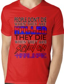 MarlinPie Styled On Quote Mens V-Neck T-Shirt