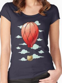 Hot Air Balloon Women's Fitted Scoop T-Shirt