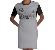 Love London Graphic T-Shirt Dress