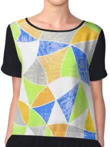 Abstract graphic pattern. Fun triangles.  Chiffon Top