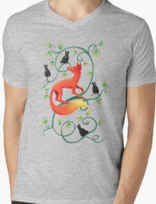 Bunnies and a Fox Mens V-Neck T-Shirt