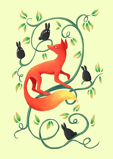 Bunnies and a Fox by freeminds