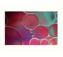 Oil & Water Abstract  Art Print