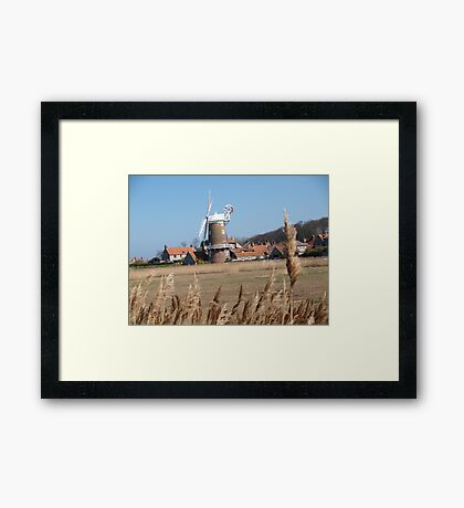 Cley Windmill from the reeds Framed Print