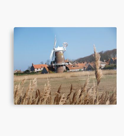 Cley Windmill from the reeds Metal Print