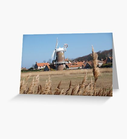 Cley Windmill from the reeds Greeting Card