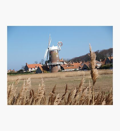 Cley Windmill from the reeds Photographic Print