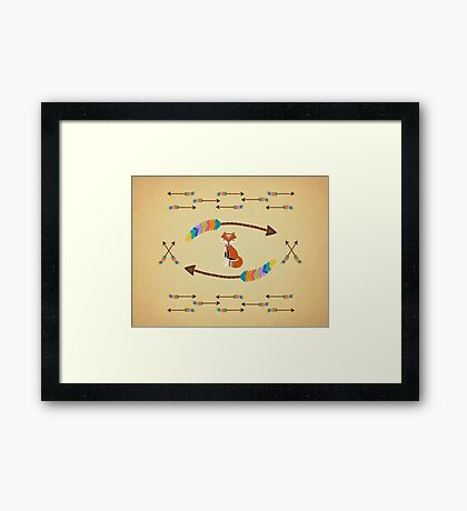 Fox - Arrows  Framed Print