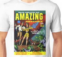 Amazing Adventures - Crater Men!- Classic SciFi Comic Art Unisex T-Shirt