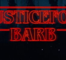 Justice for Barb Stranger Things logo Sticker
