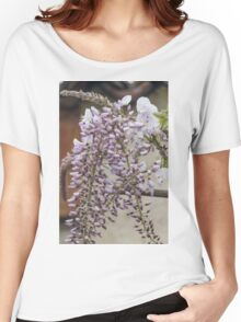 white wisteria in spring Women's Relaxed Fit T-Shirt