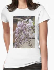 white wisteria in spring Womens Fitted T-Shirt
