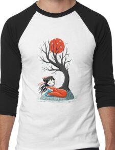 Girl and a Fox 2 Men's Baseball ¾ T-Shirt