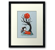 Girl and a Fox 2 Framed Print