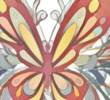 Artistic Ornate Butterfly Art Sticker