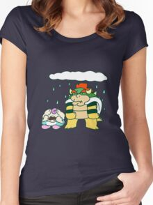 Sad Mallow and Grumpy Bowser Women's Fitted Scoop T-Shirt