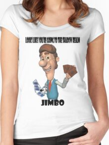Looks like you're going to the Shadow Realm, Jimbo Women's Fitted Scoop T-Shirt